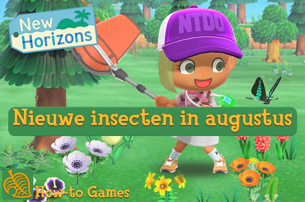 Nieuwe en verdwijnende insecten van augustus in Animal Crossing New Horizons
