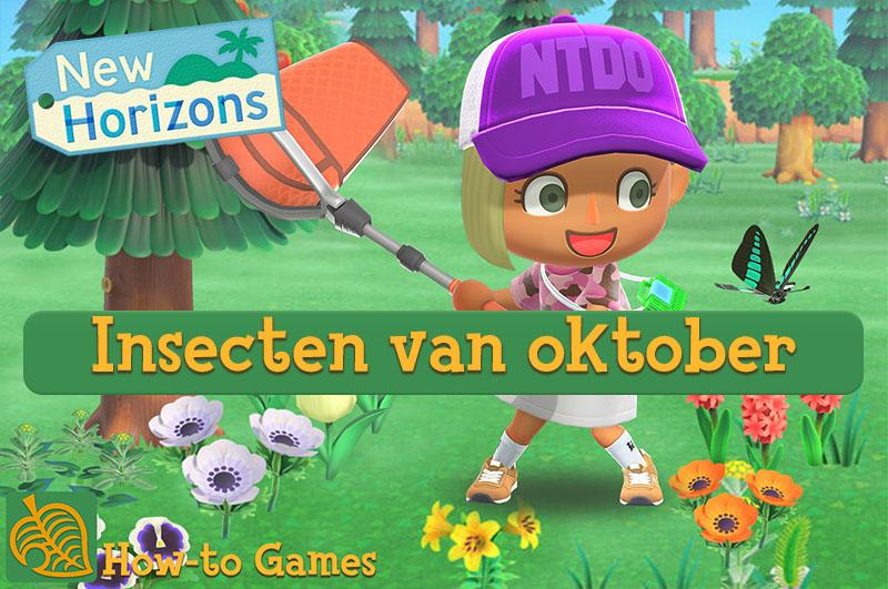 Insecten van oktober in Animal Crossing New Horizons