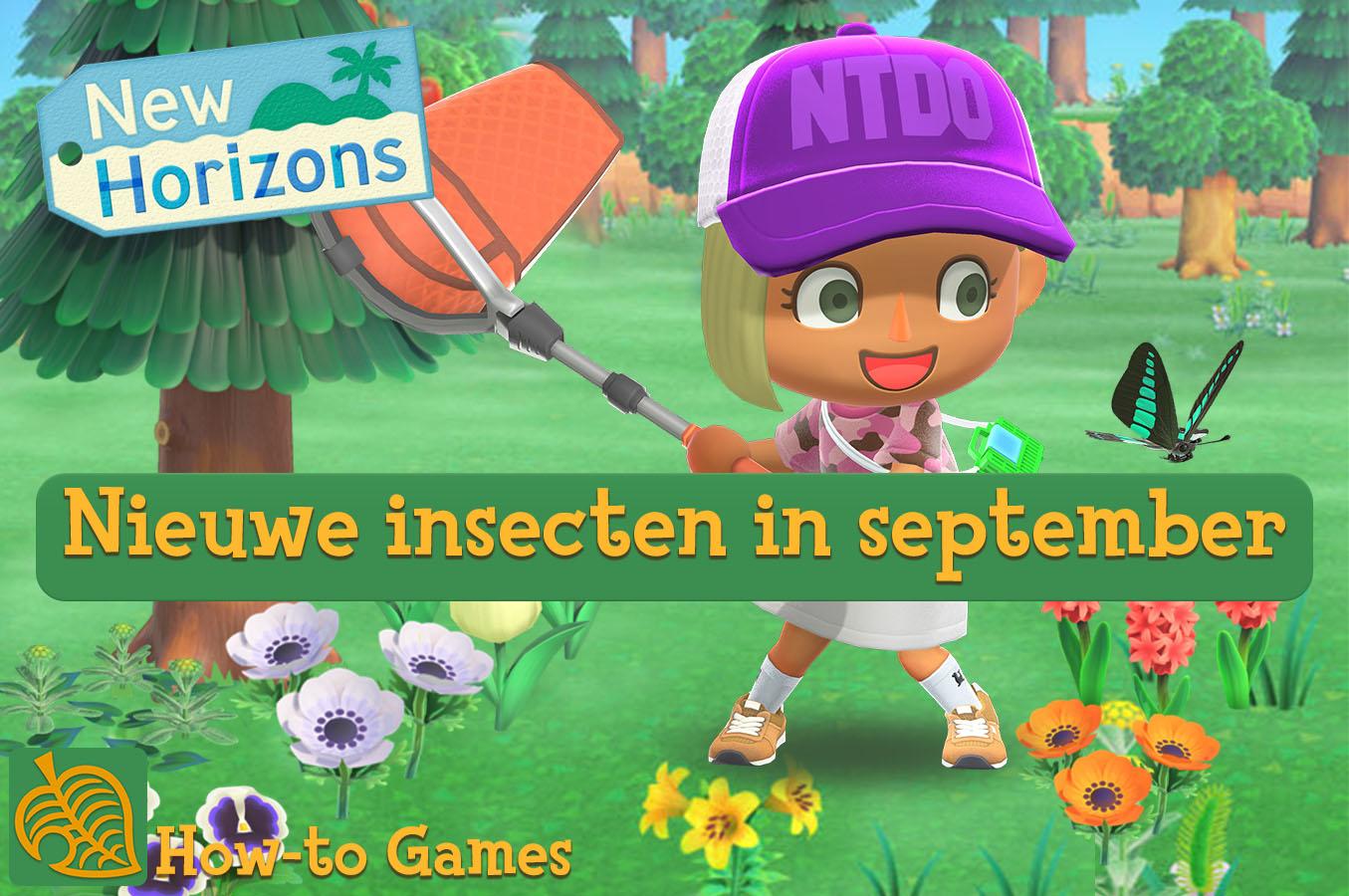 Nieuwe insecten van september in Animal Crossing New Horizons