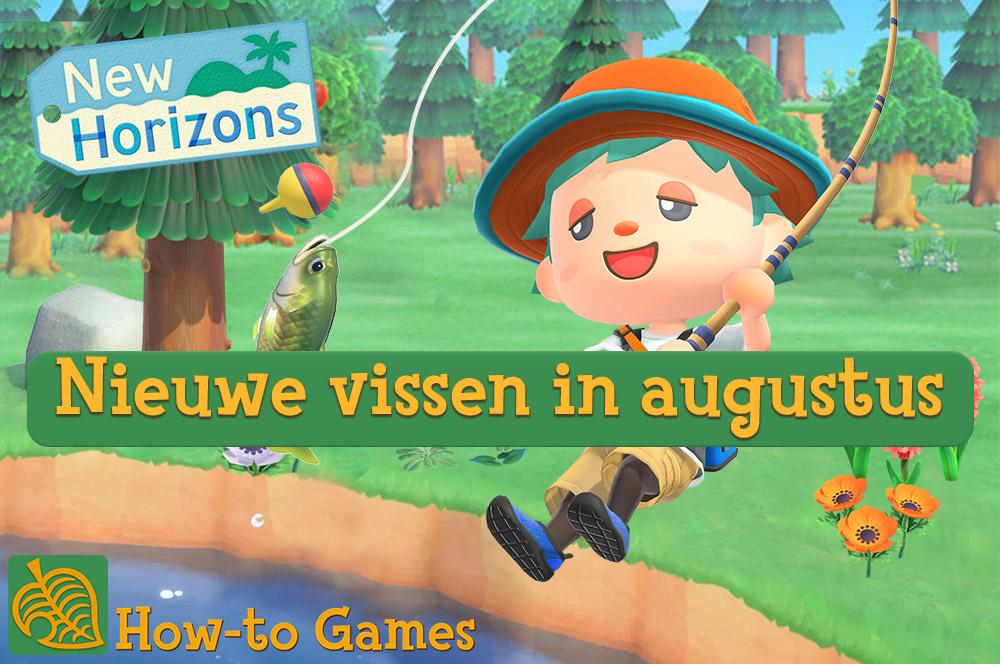 Nieuwe vissen in augustus in Animal Crossing New Horizons