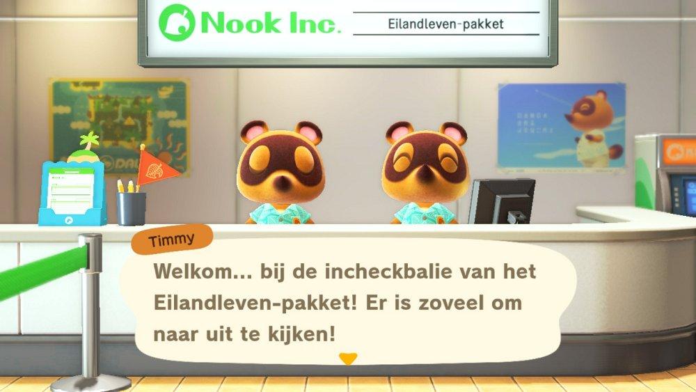 Animal Crossing New Horizons Incheckbalie