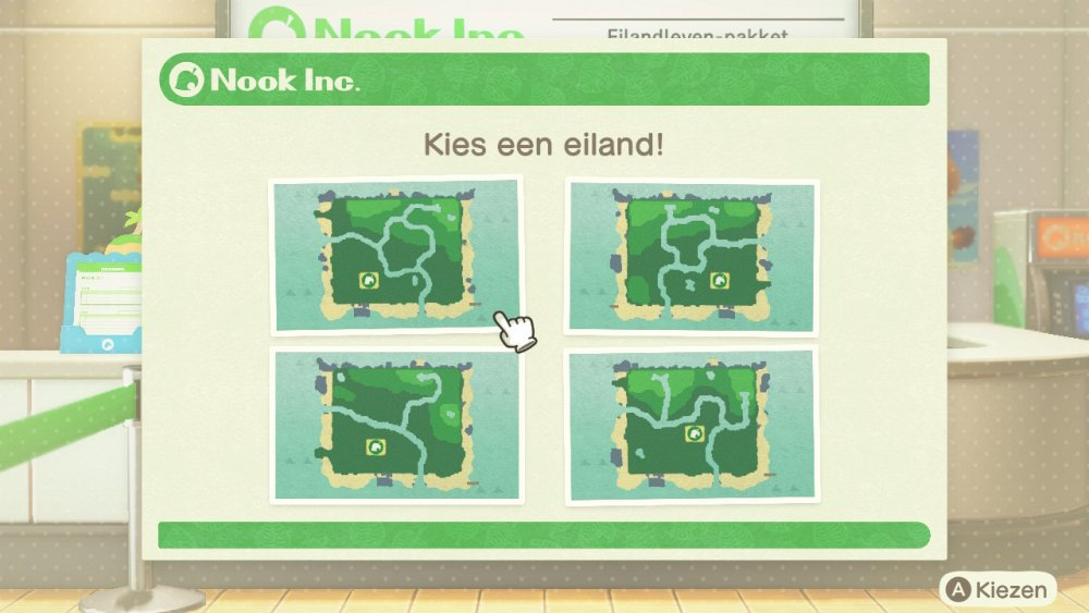 Animal Crossing New Horizons Eiland kiezen