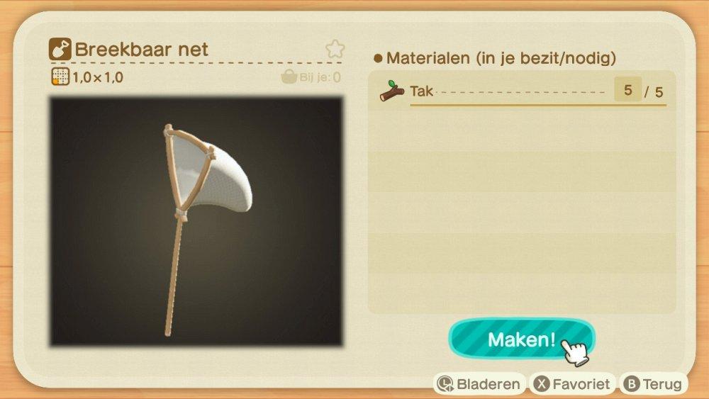 Animal Crossing New Horizons breekbaar net