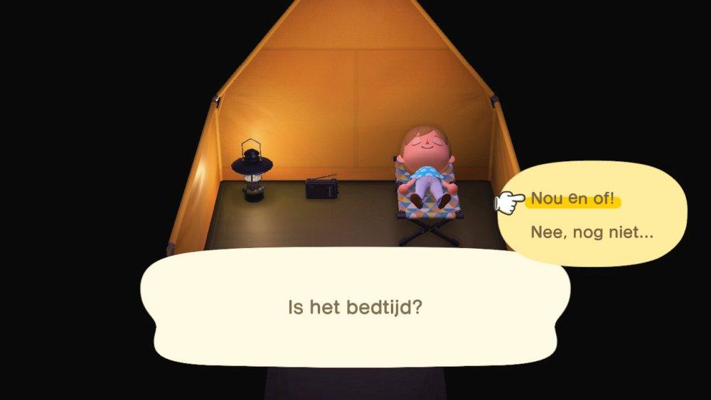 Animal Crossing New Horizons Slapen