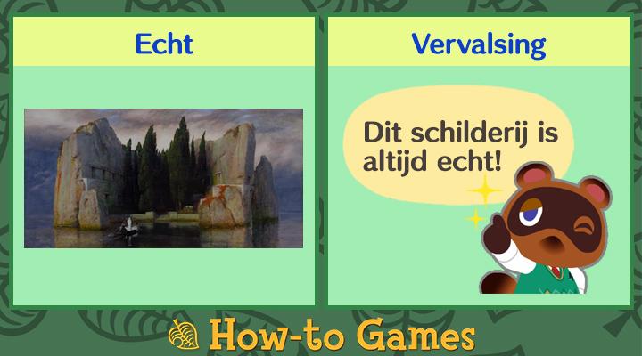 Animal Crossing New Horizons Mysterieuze schilderij