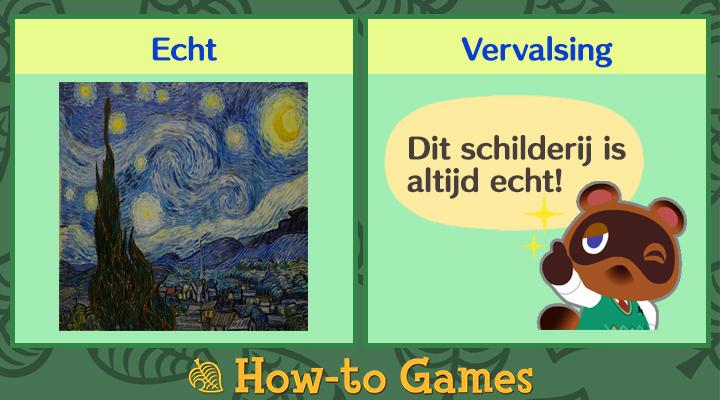 Animal Crossing New Horizons Nachtelijke schilderij