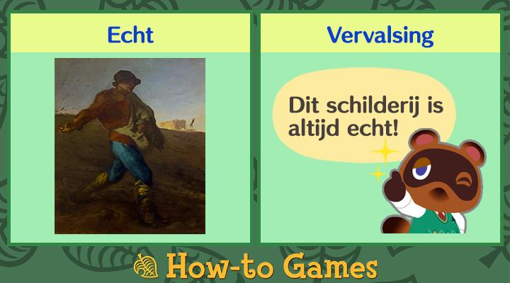 Animal Crossing New Horizons Noeste schilderij