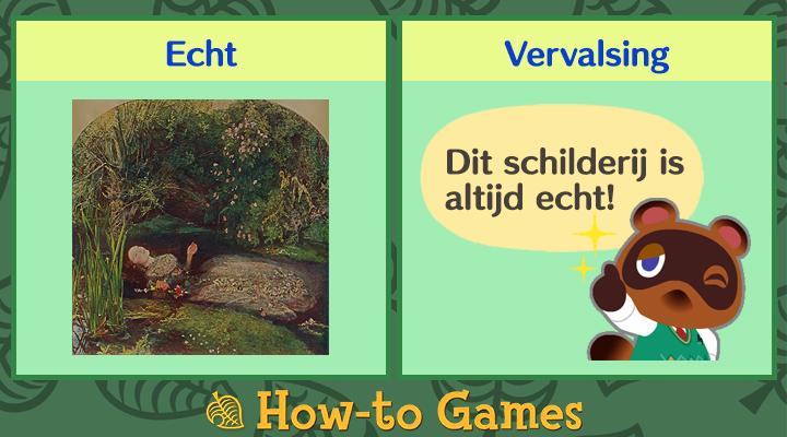 Animal Crossing New Horizons Tragische schilderij