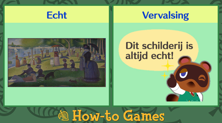 Animal Crossing New Horizons Vredige schilderij