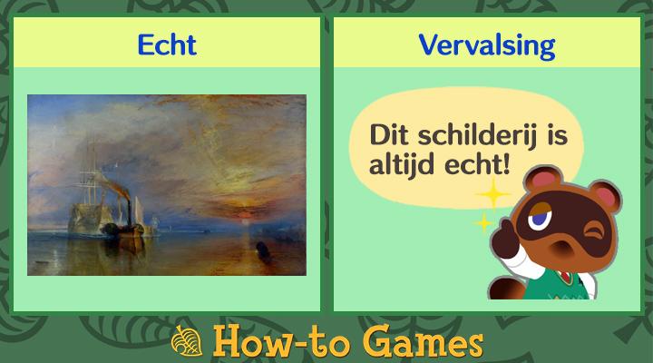 Animal Crossing New Horizons Weemoedige schilderij