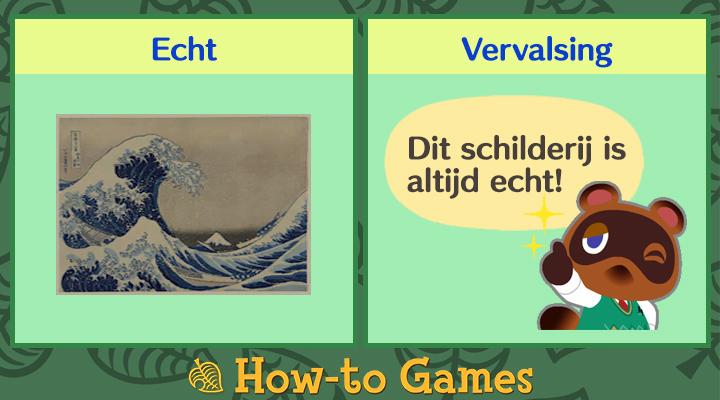 Animal Crossing New Horizons Woelige schilderij