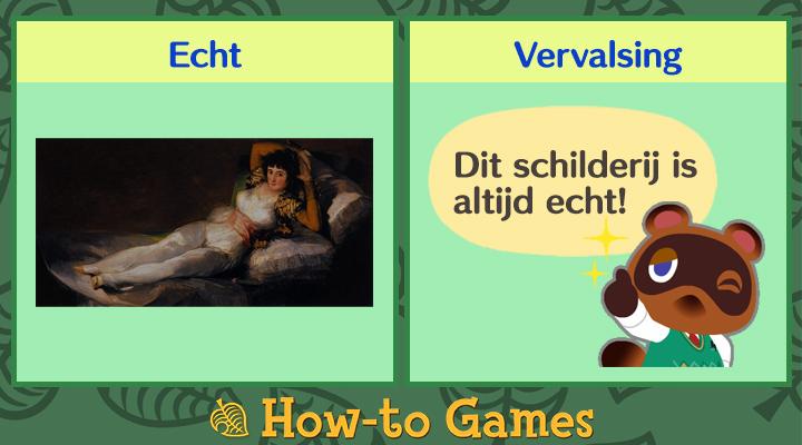 Animal Crossing New Horizons verleidelijke schilderij