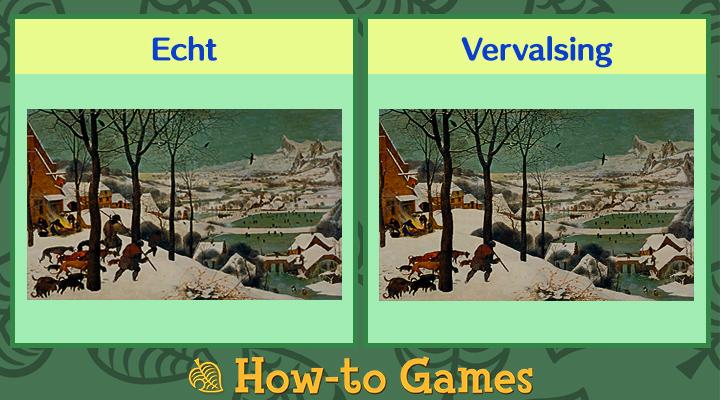 Animal Crossing New Horizons winterse schilderij