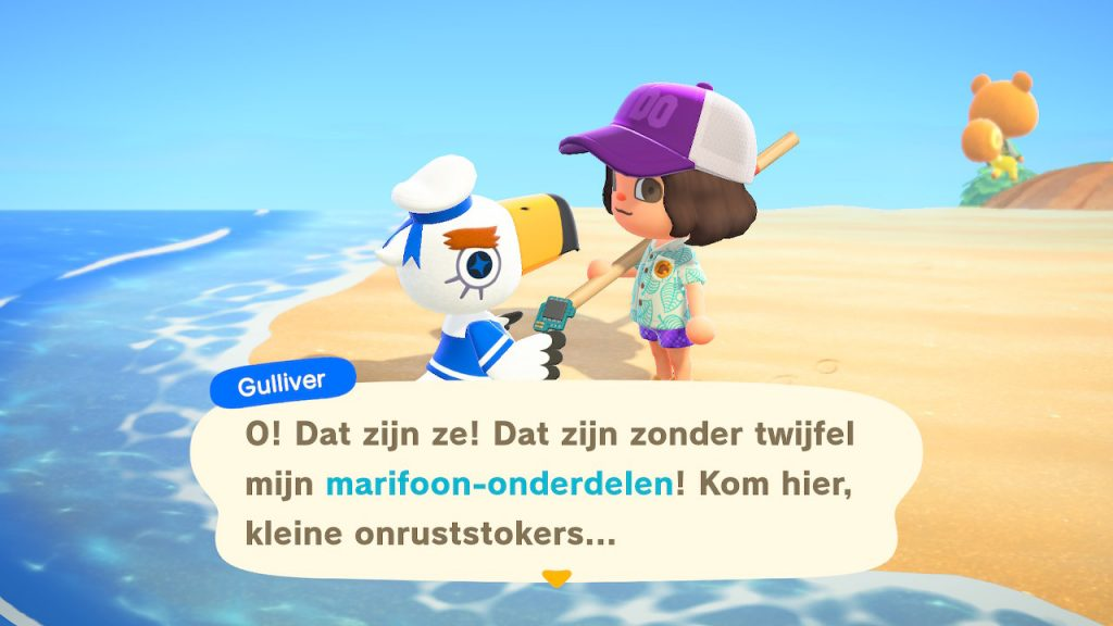 Animal Crossing New Horizons Gulliver marifoon-onderdelen