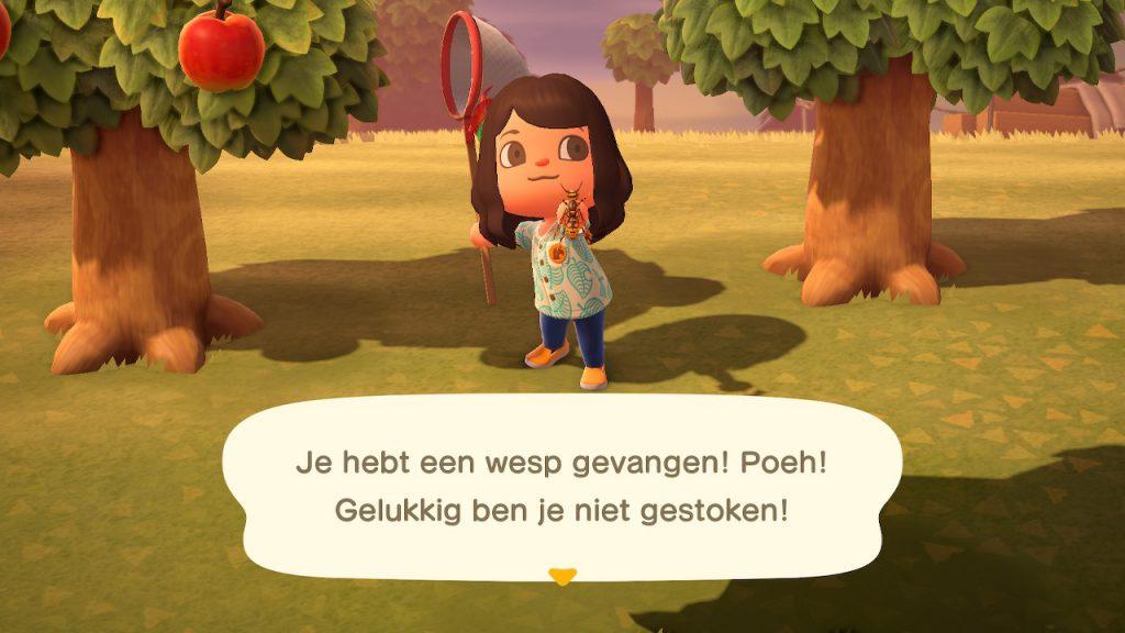 Animal Crossing New Horizons wespen vangen